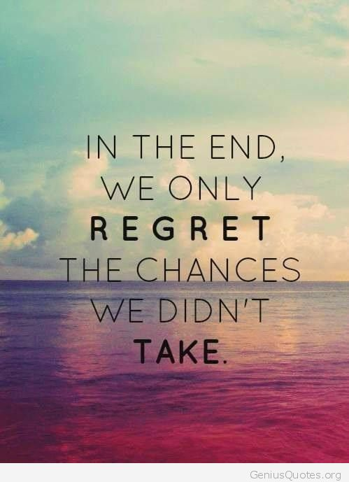 Regret-lost-chances
